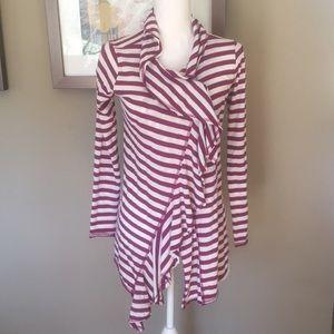 Athleta Purple Striped Cardigan